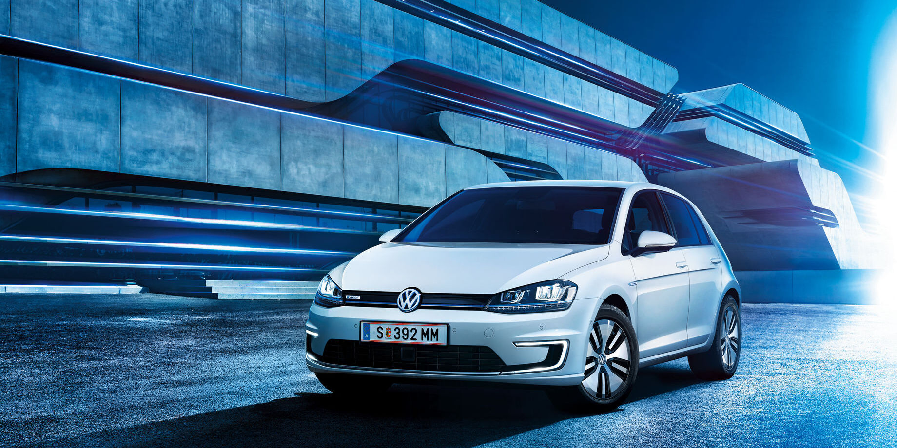 vw volkswagen e-golf automobil electric alb frontal