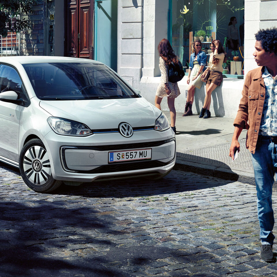 vw volkswagen e-up! automobil electric profil