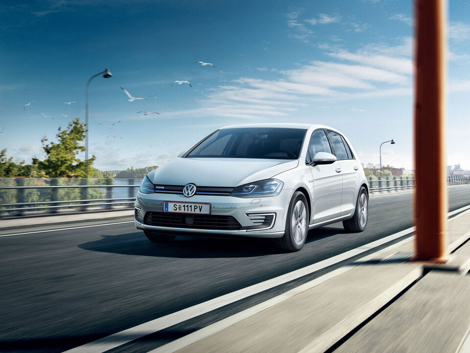 vw volkswagen e-golf automobil electric profil frontal