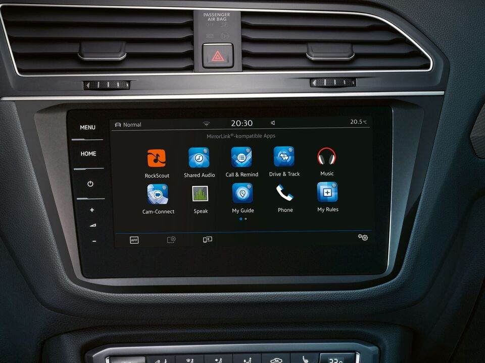 vw volkswagen tiguan mobile connect