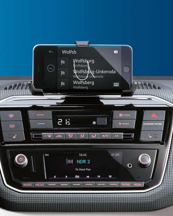 vw e-up automobil electric display radio
