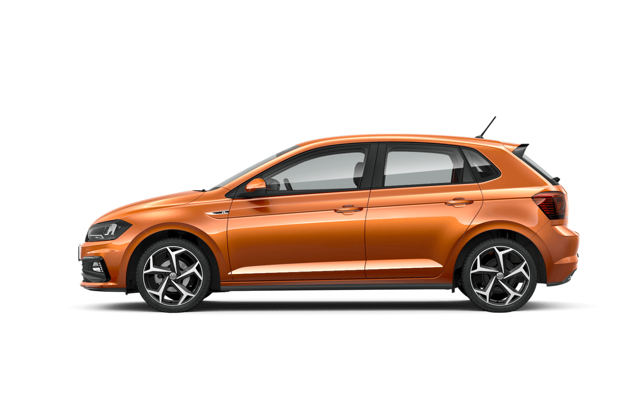 vw volkswagen polo orange profil