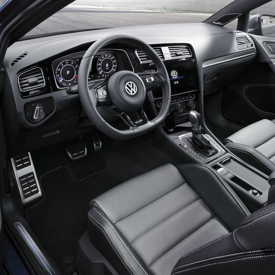 vw golf r interior bord scaune sport